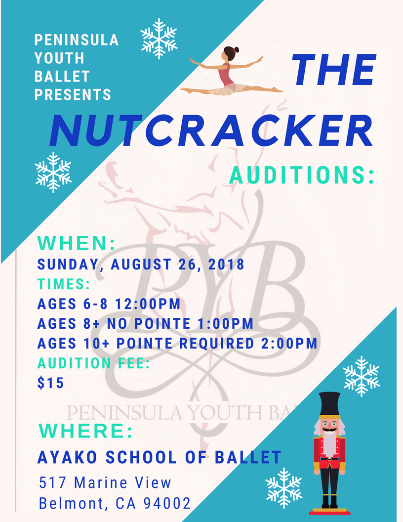 Nutcracker Auditions, August 26, 2018